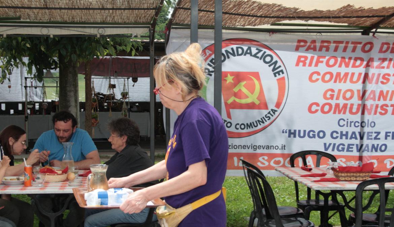 Menù della 10^ Festa di RIFONDAZIONE COMUNISTA di Vigevano
