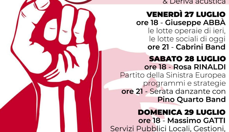 Programma Festa di Liberazione – Rifondazione Comunista – Federazione di Pavia