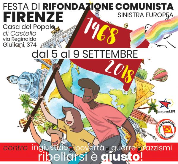 Dal 5 al 9 settembre a Firenze Festa nazionale di Rifondazione Comunista